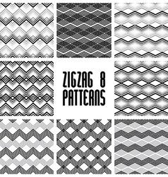 Zig zag black and white geometric seamless vector image vector image