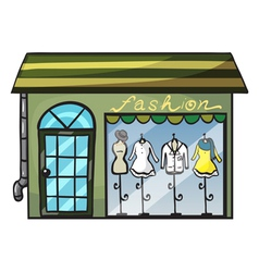 a clothing store vector image