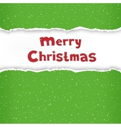 Christmas torn green paper vector image