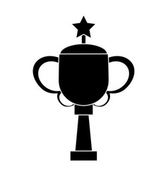 Trophy star sport image pictogram vector