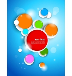 Colorful circles on blue background vector
