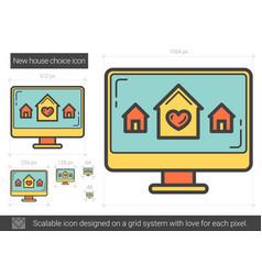 New house choice line icon vector