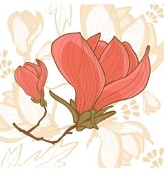 Beautiful magnolia flower vector image