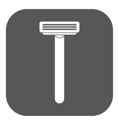 The shaving razor icon shaver symbol flat vector