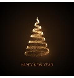 Holiday of abstract christmas tree vector