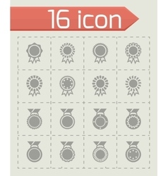 Award medal icon set vector