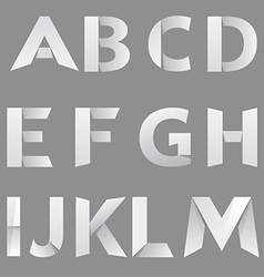 Abstract Paper Font Letter 1 vector image vector image