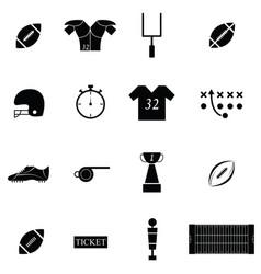 american football icon set vector image vector image