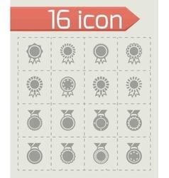 Award medal icon set vector