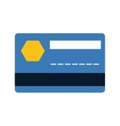 Blue credit card bank money payment vector