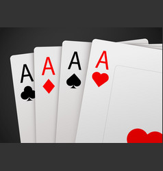 casino poker card background big win concept vector image vector image