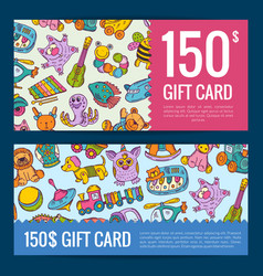 discount or gift voucher with hand drawn vector image vector image