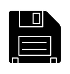 diskette icon black sign on vector image vector image