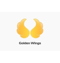 Golden wings logo Creative logo Beautiful logo vector image