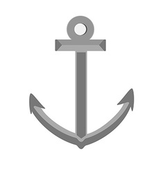 Grey anchor vector image vector image