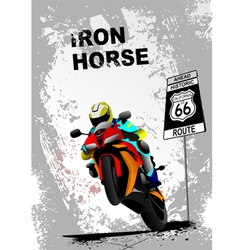iron horse 005 vector image vector image
