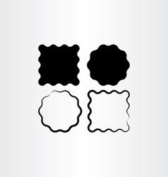 Label frame black background set vector