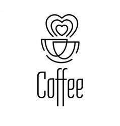 Logo coffee set vector image vector image