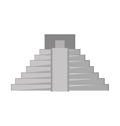 Mayan pyramid icon vector