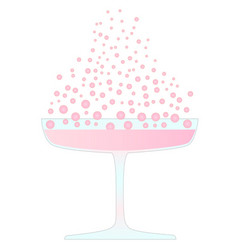 pink champagne vector image