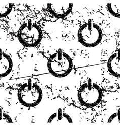 Power sign pattern grunge monochrome vector