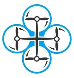 Quad copter icon vector