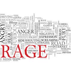 Rage word cloud concept vector