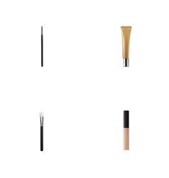 Realistic collagen tube contour style kit powder vector