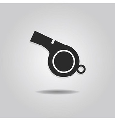 Single abstract referee whistle icon vector