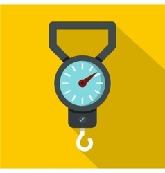 Spring scale icon flat style vector image