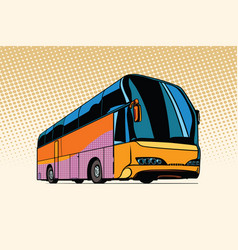 Tourist bus public transport vector