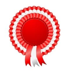 USA patriotic award ribbon rosettes vector image vector image