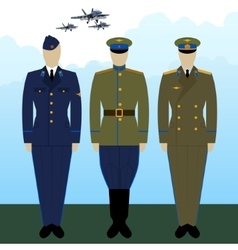 Uniforms russian military pilots vector