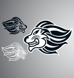 lion head logo symbol vector image