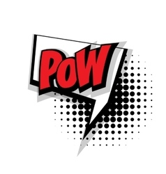 Comic text pow pop art bubble vector
