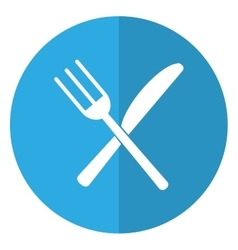 utensils kitchen fork and knife shadow vector image