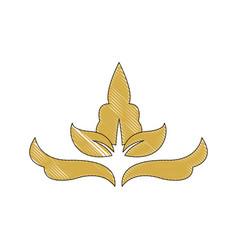 Golden crest decoration elegant vignette image vector