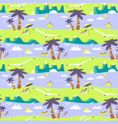 Summer beach seamless pattern idyllic sea vector