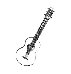 Brazilian guitar music typical instrument image vector