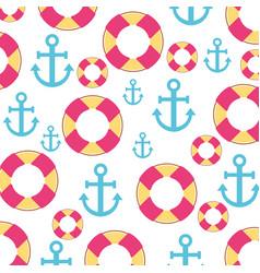 Sail anchor and lifeguard float vector