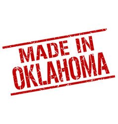 Made in oklahoma stamp vector