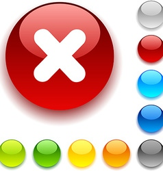 Cross button vector