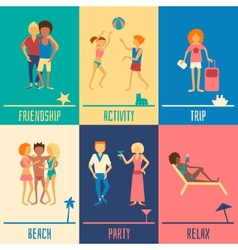 Vacation people set vector