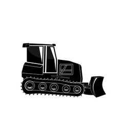 Bulldozer major construction vector