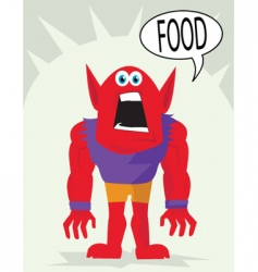 Food monster vector