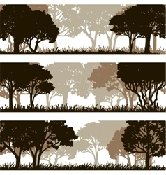forest silhouettes lanscapes vector image