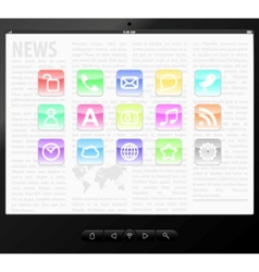 set icons on screen vector image
