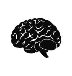 Human brain black icon vector