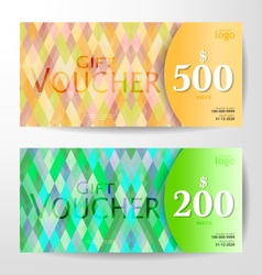 Season vouchers vector