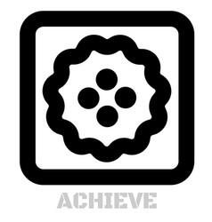 Achieve conceptual graphic icon vector